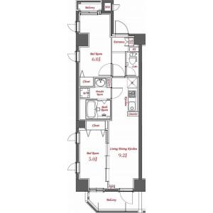 2LDK Mansion in Yayoicho - Nakano-ku Floorplan