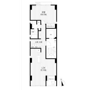 1LDK Mansion in Waseda tsurumakicho - Shinjuku-ku Floorplan