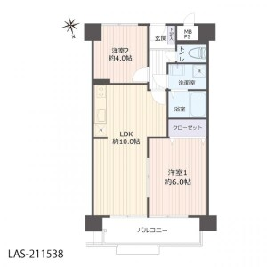 2LDK Apartment in Showacho - Osaka-shi Abeno-ku Floorplan