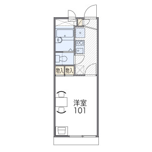 1K Apartment in Konoecho - Kyoto-shi Kamigyo-ku Floorplan