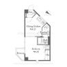 1DK Apartment to Buy in Toshima-ku Floorplan