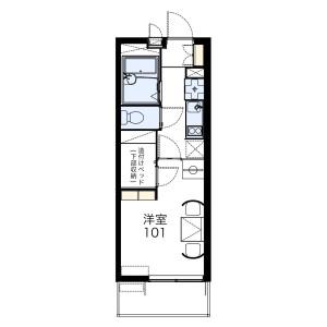藤沢市大鋸-1K公寓 楼层布局