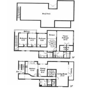 4LDK Mansion in Akasaka - Minato-ku Floorplan