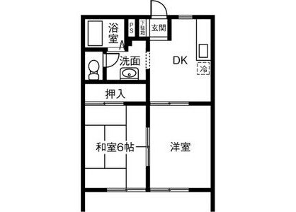 2DK Apartment to Rent in Niwa-gun Fuso-cho Floorplan