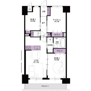 2SLDK {building type} in Shinkawacho - Higashikurume-shi Floorplan
