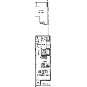 池田市石橋-1K公寓大厦 楼层布局