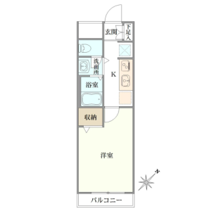 1K {building type} in Hommachi - Shibuya-ku Floorplan