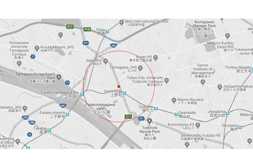 Whole Building Apartment to Buy in Setagaya-ku Map