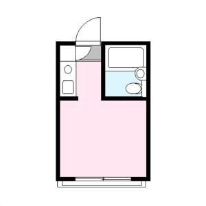 新宿區百人町-1R公寓大廈 房間格局