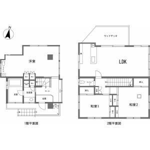 伊東市 川奈 3LDK {building type} 間取り
