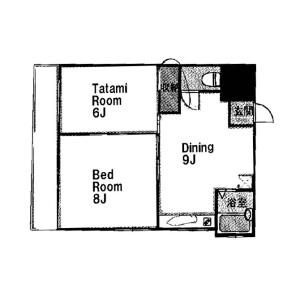 豊島區池袋(1丁目)-2DK公寓大廈 房間格局