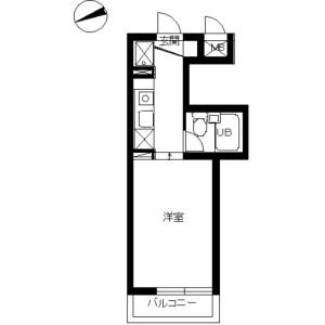 1K Mansion in Tomiokanishi - Yokohama-shi Kanazawa-ku Floorplan