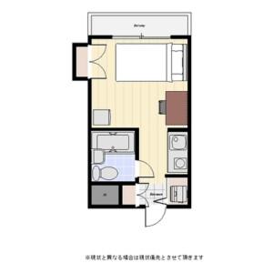 澀谷區本町-1R公寓大廈 房間格局