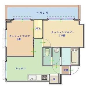 2K Mansion in Ebisu - Shibuya-ku Floorplan