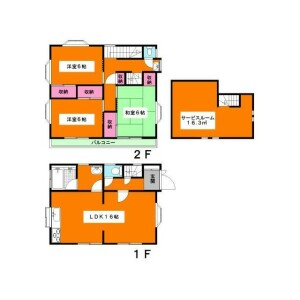 3SLDK {building type} in Unane - Setagaya-ku Floorplan