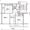 Shared Apartment to Rent in Kunitachi-shi Floorplan