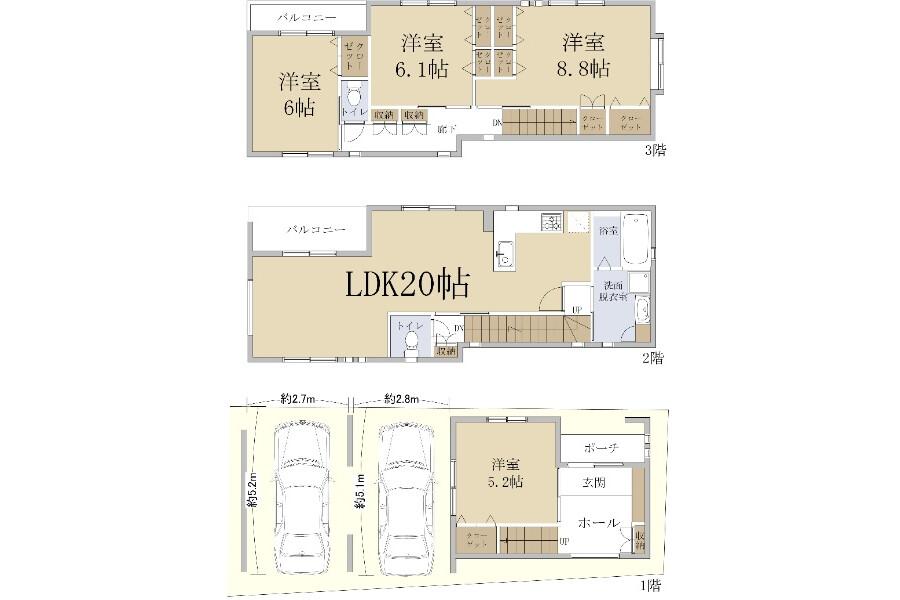 4LDK House to Buy in Kobe-shi Nada-ku Floorplan