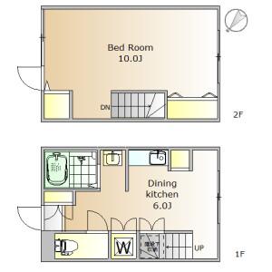 1DK Apartment in Senzoku - Meguro-ku Floorplan