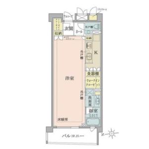 港区 六本木 1R {building type} 間取り