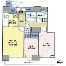 2LDK Mansion in Kachidoki - Chuo-ku Floorplan