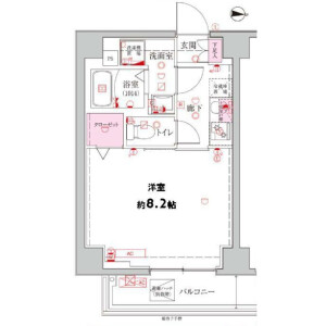 1K Mansion in Shinohashi - Koto-ku Floorplan
