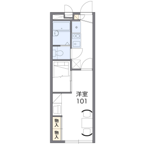 1K Mansion in Higashinaganuma - Inagi-shi Floorplan