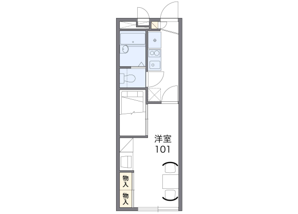 1K Apartment to Rent in Inagi-shi Floorplan