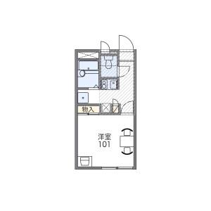 1K Apartment in Higashihommachi - Amagasaki-shi Floorplan