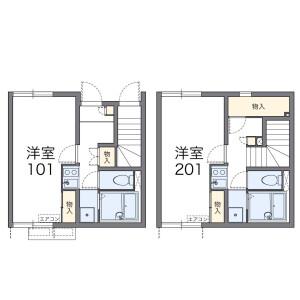 世田谷區代田-1K公寓 房間格局