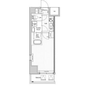 1K Apartment in Futabacho - Yokohama-shi Minami-ku Floorplan
