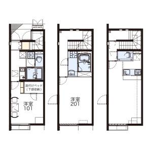 1LDK Mansion in Wakabayashi - Setagaya-ku Floorplan