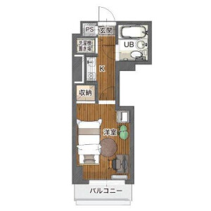 1K Mansion in Okazawacho - Yokohama-shi Hodogaya-ku Floorplan