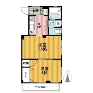 2K Mansion in Sengendai - Yokohama-shi Nishi-ku Floorplan