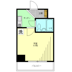 1K Mansion in Yotsuya - Shinjuku-ku Floorplan