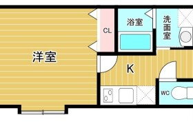 1K {building type} in Shirogane - Fukuoka-shi Chuo-ku
