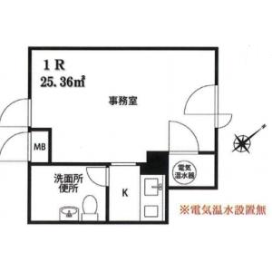 品川区大井-1K{building type} 楼层布局