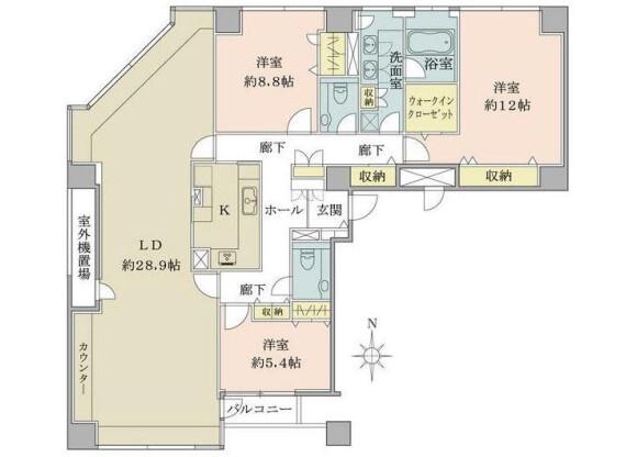 3LDK Apartment to Buy in Shinagawa-ku Floorplan