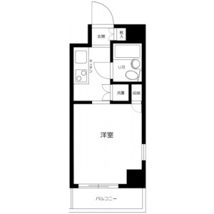 1K Mansion in Nishiminemachi - Ota-ku Floorplan