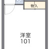 1K Apartment to Rent in Ginowan-shi Floorplan
