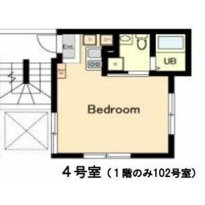 大田區北嶺町-1R公寓大廈 房間格局
