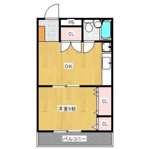 1DK Mansion in Aobadai - Yokohama-shi Aoba-ku Floorplan