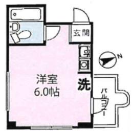 1R Mansion in Shoan - Suginami-ku Floorplan