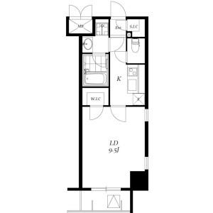 1K Mansion in Iwamotocho - Chiyoda-ku Floorplan