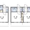 在名古屋市中村區內租賃1K 公寓 的房產 房間格局