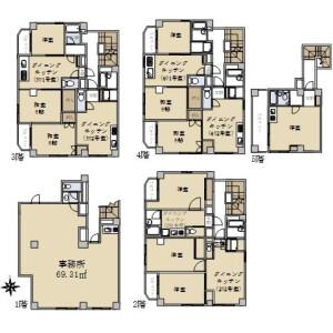 Whole Building {building type} in Nukuikitamachi - Koganei-shi Floorplan