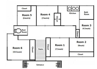 Private Guesthouse to Rent in Shinagawa-ku Floorplan