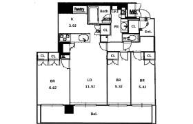 3LDK Apartment in Toyosaki - Osaka-shi Kita-ku
