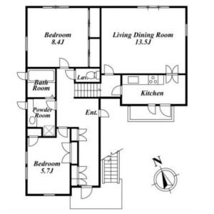 2LDK House in Shirokanedai - Minato-ku Floorplan