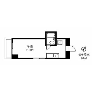 1R Mansion in Shimouma - Setagaya-ku Floorplan