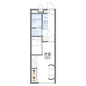 1K Apartment in Nishibiwajimacho kawaguchi - Kiyosu-shi Floorplan